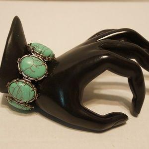 """Jewelry - Women's Bracelet Faux Turquoise 8"""""""
